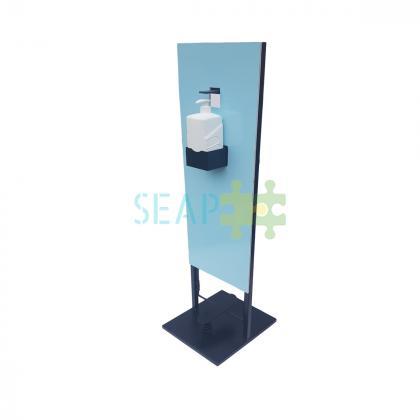 Dispenser de dezinfectant din metal, cu pedala 1L albastru